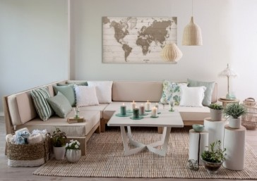 Wereldkaart op hout - sepia