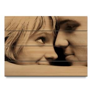 Foto op hout voor buiten. Kies voor larikshout