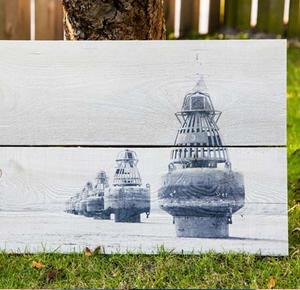 Steiger foto op hout geprint